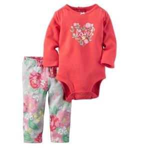 Carter's 2-pc Floral LOVE Outfit